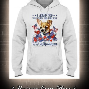 American flag Chihuahua I asked god for loyalty and pure love hoodie