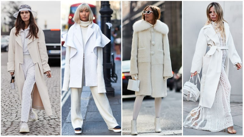 How to wear trendy white on white outfit