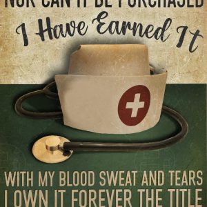 Personalized custom name nurse it cannot be inherited nor can it be purchased canvas