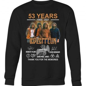 53 years Led Zeppelin signature thank you for the memories sweatshirt