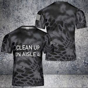 Clean up on aisle 46 hat cap and 3d t-shirt