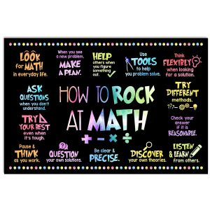 How to rock at math poster canvas