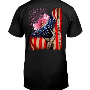 American Flag Breast Cancer Awareness No One Fight Alone Shirt 2American Flag Breast Cancer Awareness No One Fight Alone Shirt 2