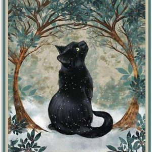 Black cat There was a girl who really loved cats poster