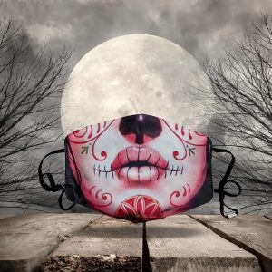 The day of the dead sugar skull girl halloween 3d face mask face cover