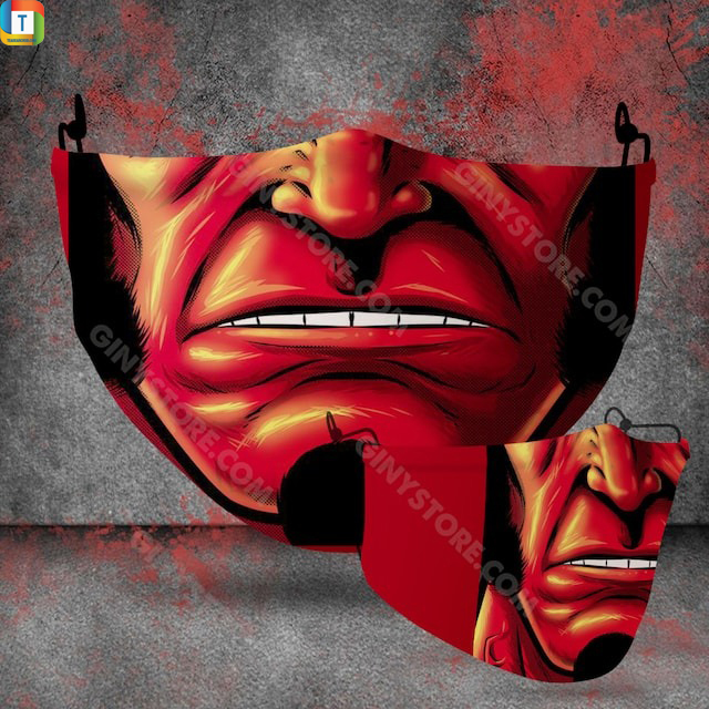 Hellboy halloween 3d face mask face cover