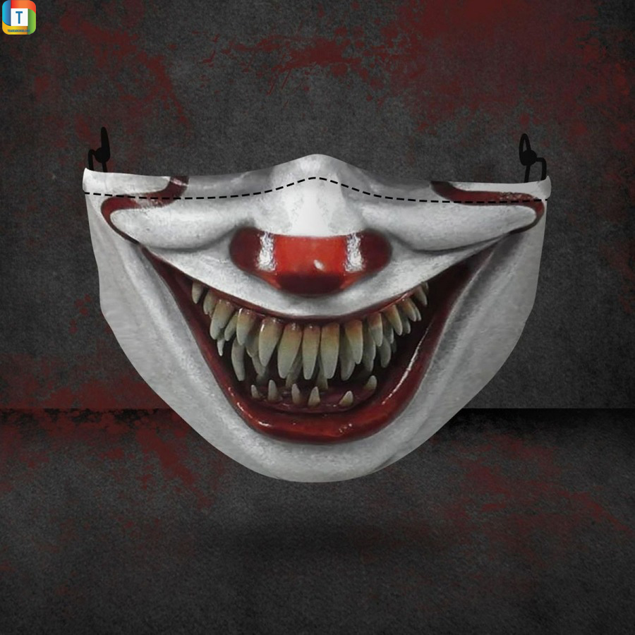 Pennywise Clown IT halloween 3d face mask face cover